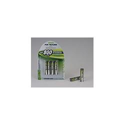 Ansmann NiMH Micro AAA 800 - 4 blister