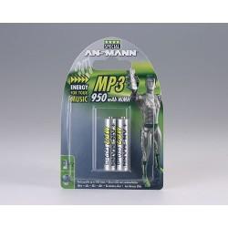 Ansmann NiMH Micro AAA 950 Mp3 - 2 blister