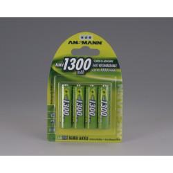 Ansmann NiMH Mignon AA 1300 - 4 blister