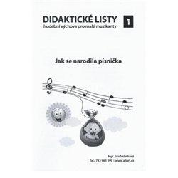 Didaktické listy k sešitu Hudební výchova pro malé muzikanty 1
