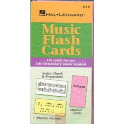 MS Hal Leonard Student Piano Library: Music Flash Cards Set B