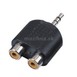RELOOP Adaptor 2x RCA F / stereo mini jack M