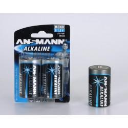 Ansmann Alkaline Mono D - 2 blister