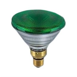 PAR 38 green, 230V 80W, E27 (GE Lighting)