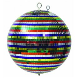 Zrcadlová koule 30 cm barevná