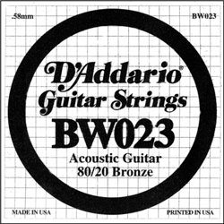 D'ADDARIO BW023 80/20 Bronze - .023
