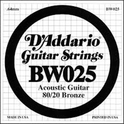 D'ADDARIO BW025 80/20 Bronze - .025