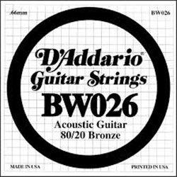 D'ADDARIO BW026 80/20 Bronze - .026