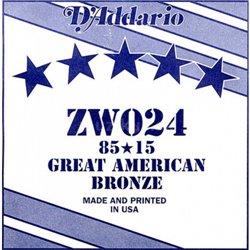 D'ADDARIO ZW024 80/15 Great American Bronze - .024
