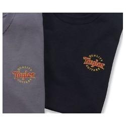 Taylor 12026 /tričko vyšívané logo black L /