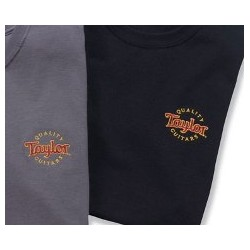 Taylor 12027 /tričko vyšívané logo black XL /