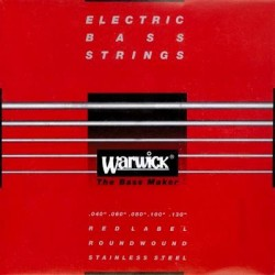 "Warwick RED LABEL STAINLESS STEEL BASS STRINGS42301 M 5B 045/135"" 5-str. Set M, Low B"