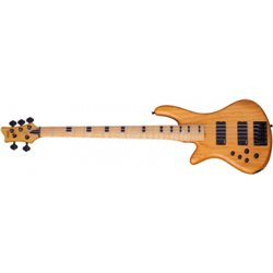 SCHECTER Stiletto-5 Session, Maple Fingerboard - Aged Natural Satin - Left Handed
