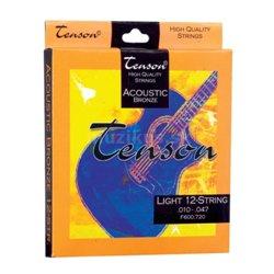 GEWApure Struny pro Akustickou kytaru Tenson Bronz .010-.047, Light Sada+