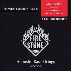 Fire&Stone Struny pro akustický bas Ovinutý měď Sada 4 strun 4-String