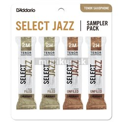 RICO DSJ-K2M Select Jazz Reed Sampler Pack - Tenor Saxophone 2M/2H - 4-Pack