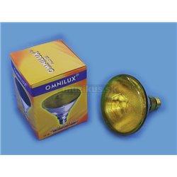 PAR 38 230V/80W FL E27 Omnilux žlutá