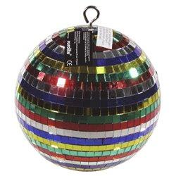Zrkadlová guľa farebná 20cm vo farebnom kartóne