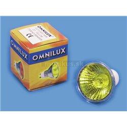 230V/50W GU-10 25° Omnilux, žlutá