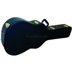 Stagg GCA-W BK, tvarovaný kufor pre akustickú gitaru