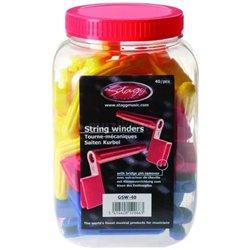 Stagg GSW-40, farebné kľučky na navíjanie strún (40ks)