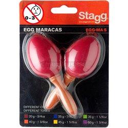 Stagg EGG-MA S/RD, pár vajíček, krátká rukojeť, červené