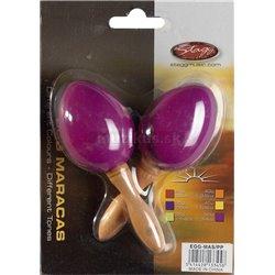 Stagg EGG-MA S/PP, pár vajíčok, krátka rukoväť, purpurovej
