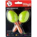 Stagg EGG-MA S/GR, pár vajíčok, krátka rukoväť, zelené
