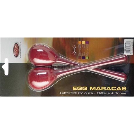Stagg EGG-MA L/RD, pár vajíčok, dlhá rukoväť, červené