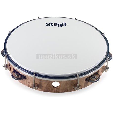 "Stagg TAB-110P/WD, laditelné tamburína s blanou, 10 """