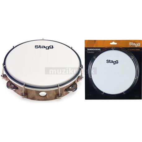 "Stagg TAB-108P/WD, laditelné tamburína s blanou, 8 """