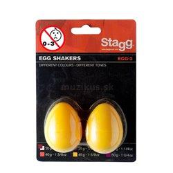 Stagg EGG-2 YW, pár vajíček, žluté