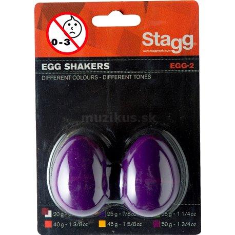 Stagg EGG-2 PP, pár vajíčok, purpurovej