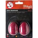 Stagg EGG-2 RD, pár vajíčok, červené