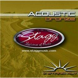 Stagg AC-12st-BR, sada strún