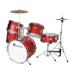 Dimavery JDS-305 dětská bicí sada, červená