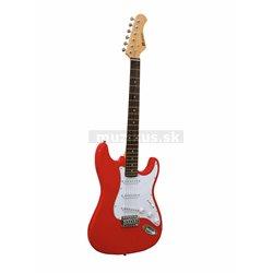 Dimavery ST-203, elektrická kytara, červená