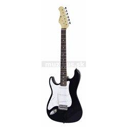 Dimavery ST-203, levoruká elektrická kytara, černá