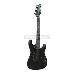 Dimavery ST-203, elektrická kytara, černá gothik