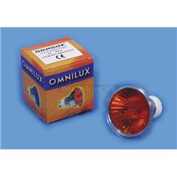 230V/35W GU-10 25° Omnilux, červená