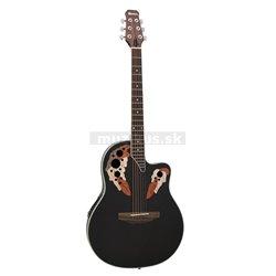 Dimavery OV-500 elektro-akustická gitara Ovation, čierna
