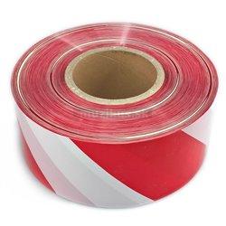 Páska PVC červeno-biela 80mm x 500m
