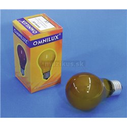 230V/25W E27 A19 Omnilux, žltá