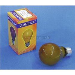 230V/25W E27 A19 Omnilux, žlutá