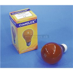 230V/25W E27 A19 Omnilux, oranžová