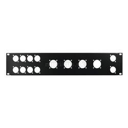 """Přední panel 19"""" pro 8x D-Type/4xNL8/T, 2HE"""