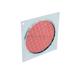 Dichrofiltr PAR 64 červený, strieborný rámik