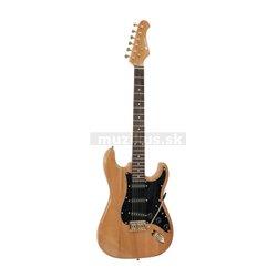 Dimavery ST-303, elektrická gitara, amber