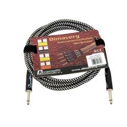Dimavery nástrojový kábel Jack - Jack, 3m, čierno-strieborný