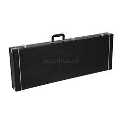 Dimavery drevený kufor rohový pre elektrickú basu, čierny